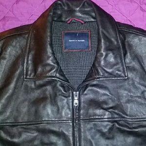 Tommy Hilfiger leather jacket sz xxl